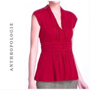 Anthropologie ETT twa Red Triblend Blouse XS